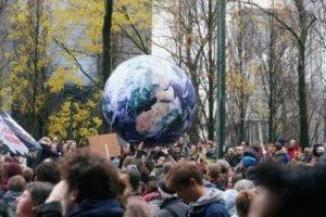 klimaatmars wereldbol