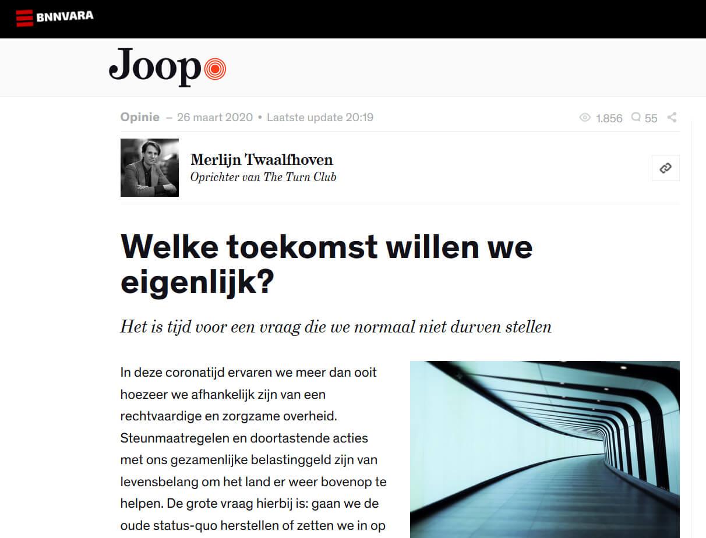 JOOP Merlijn Twaalfhoven toekomst